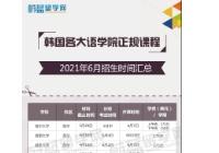 2021年6月韩国各大语学院招生进行中!